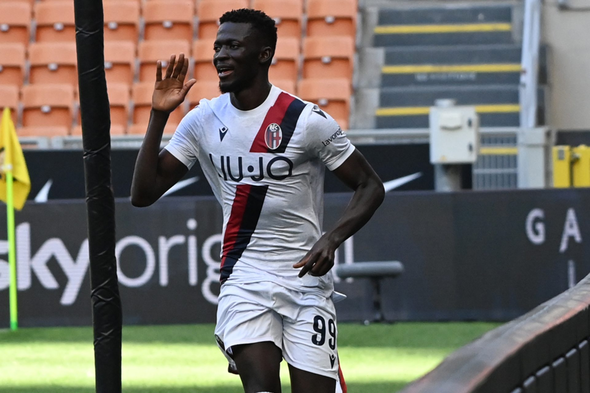 Musa Barrow after the 2-1 win over Inter | BolognaFC